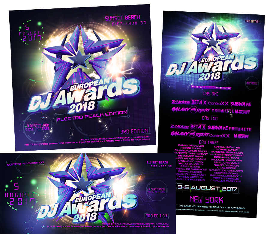 Dj Awards Web Template I Buy This Template Now I Fully Editable Project