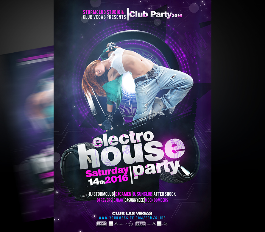 Electro House Flyer Template I For Your Awesome Parties