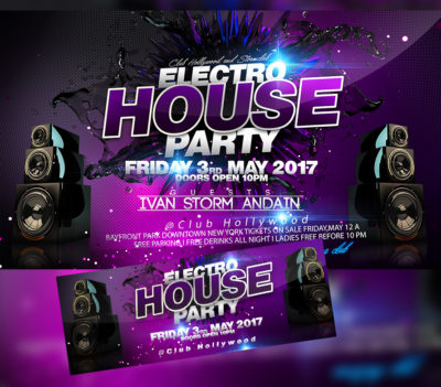 Electro House Party Flyer (Experience)