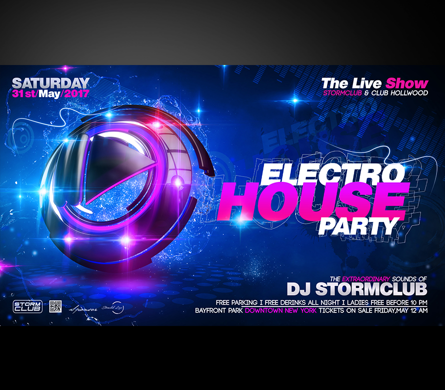 electro party flyer i fully editable psd project i buy now