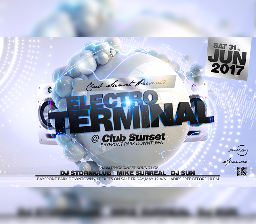 electro terminal party flyer i for your awesome parties