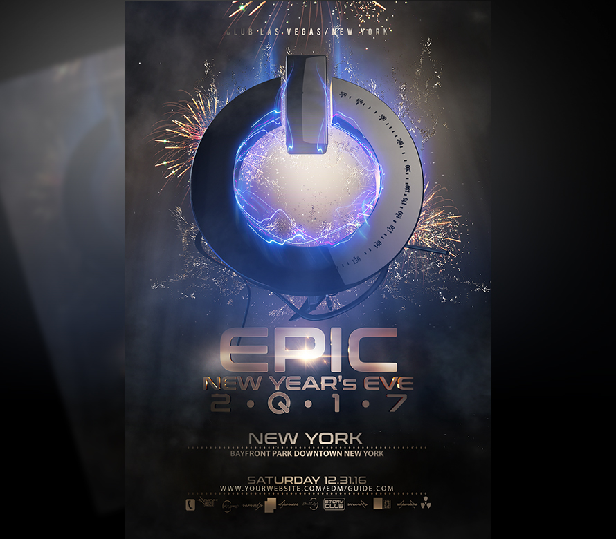 epic new year flyer template v3 onepartyflyer