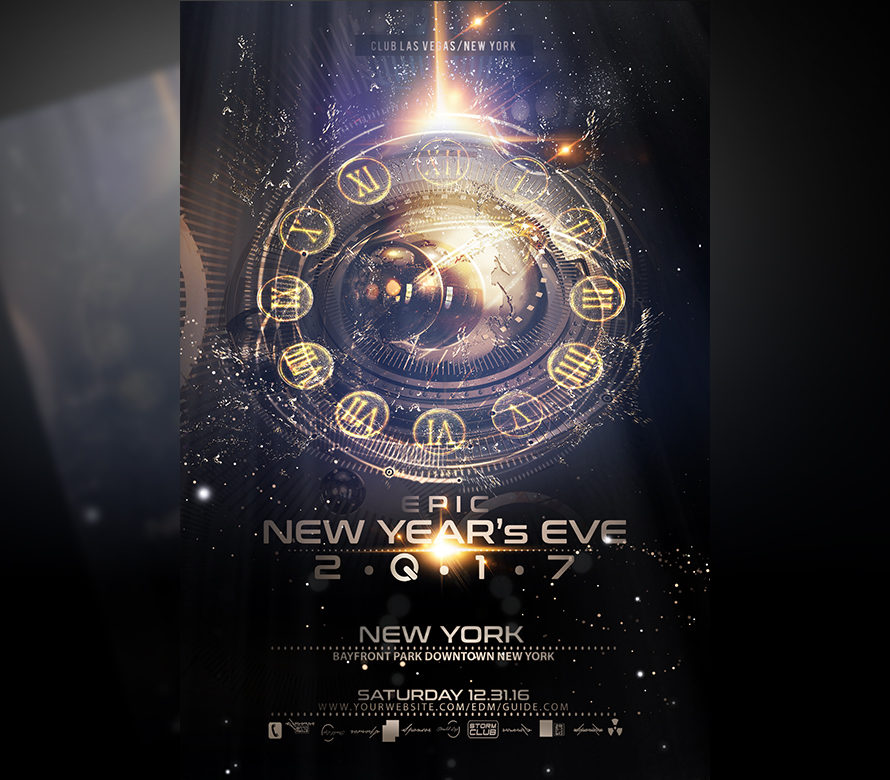 epic new year flyer template onepartyflyer