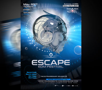 Escape EDM Flyer Template