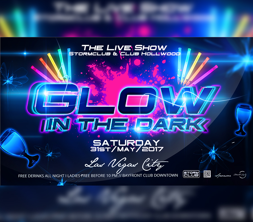 Glow in the Dark Party Flyer I For your Awesome Parties