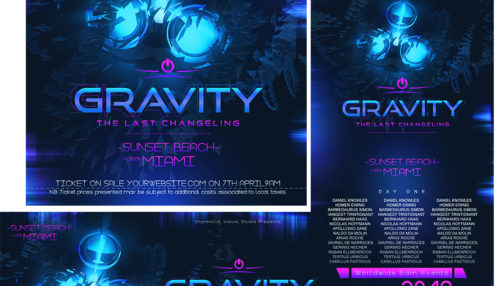 Gravity EDM Banner Template