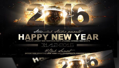 New Year Flyer Poster Templates