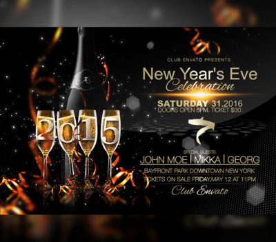 Happy New Year Flyer Template v3