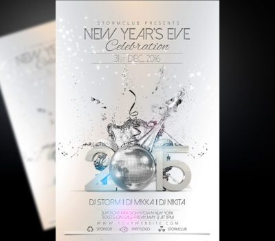 Happy New Year Party Flyer Template v2