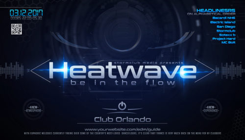 Heatwave EDM Flyer Template