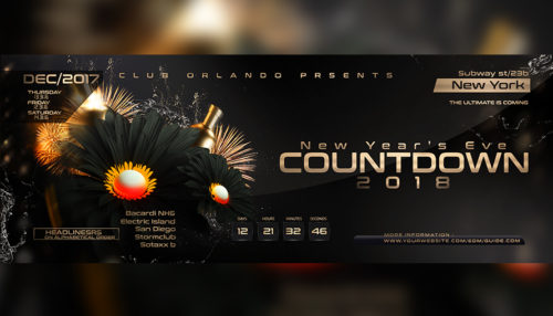 NYE Countdown Flyer Template 5