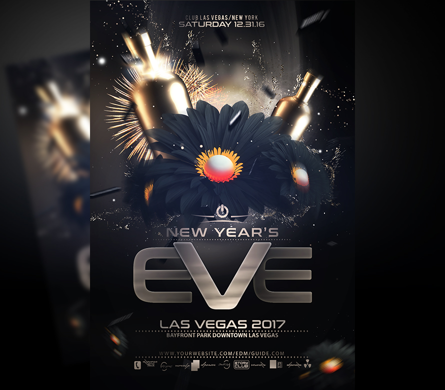 new year flyer template v2 onepartyflyer