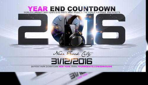 New Years Eve Countdown Flyer