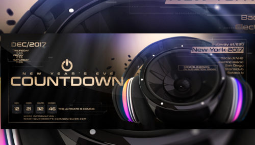 New Years Eve Countdown Flyer Template