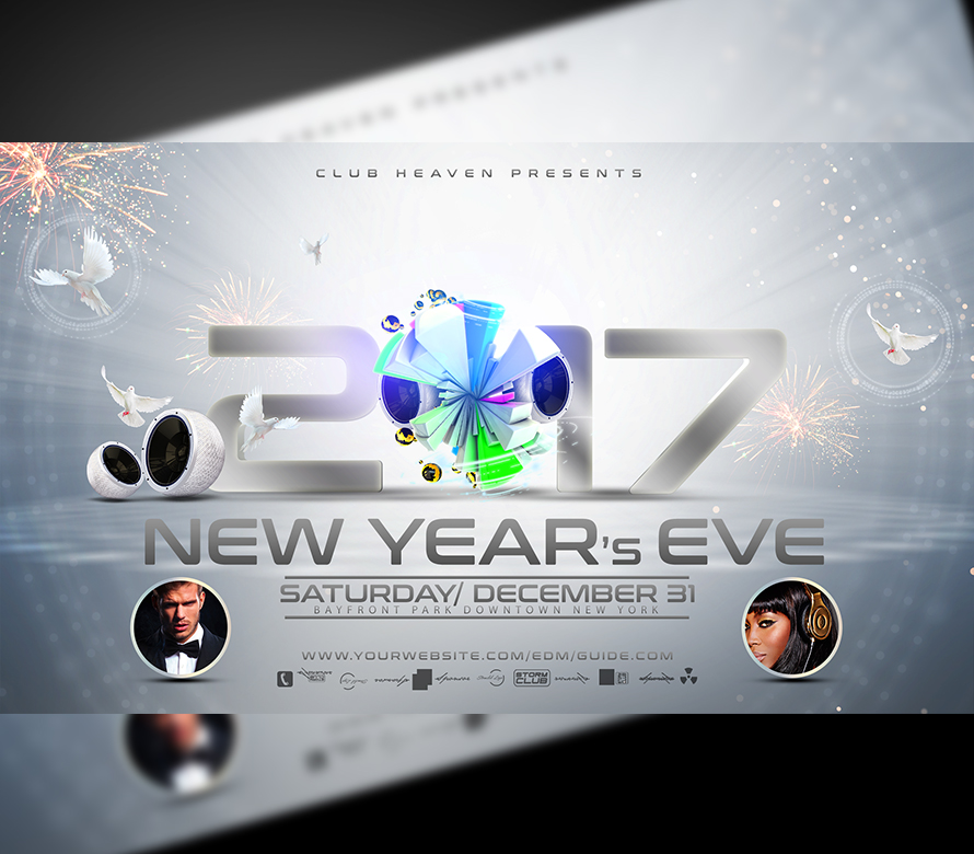 New Years Eve Flyer Template 2nd Edition | OnePartyFlyer