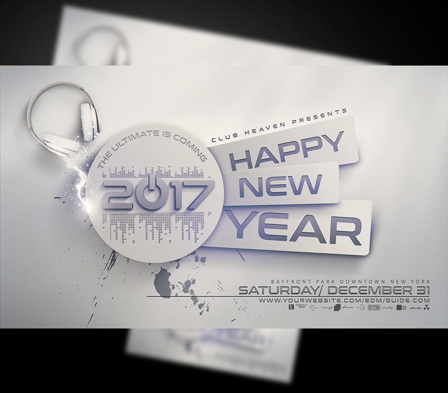 New Years Eve Flyer Template V3 | OnePartyFlyer