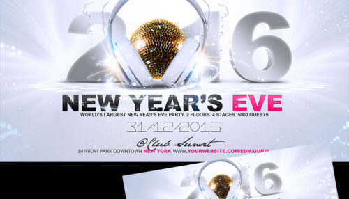 New Years Eve Flyer Template v2