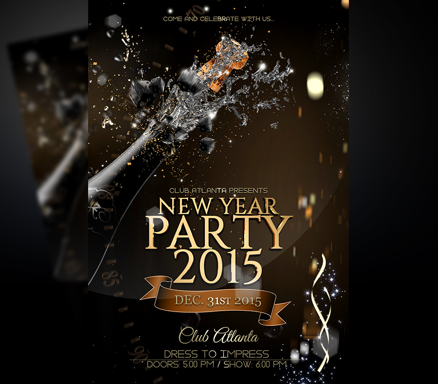 new years eve flyer template v3 onepartyflyer