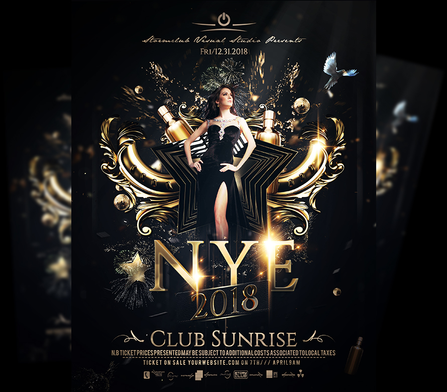 New years eve poster designs