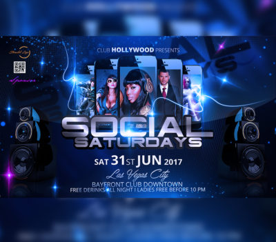 Social Saturdays Flyer