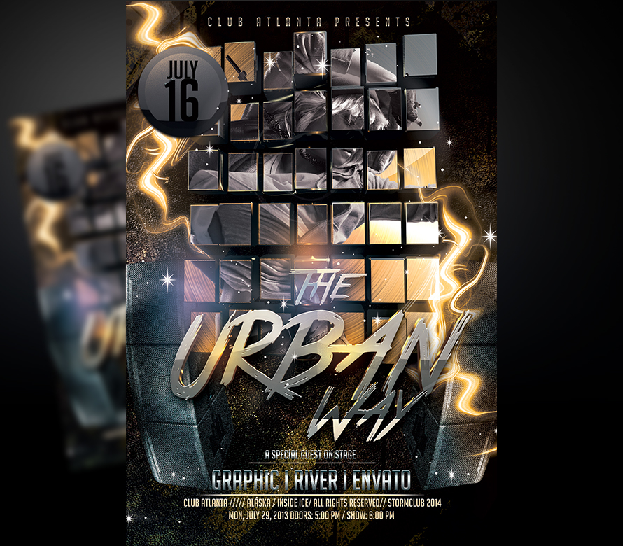 Urban Sound Flyer Template I For your Awesome Parties