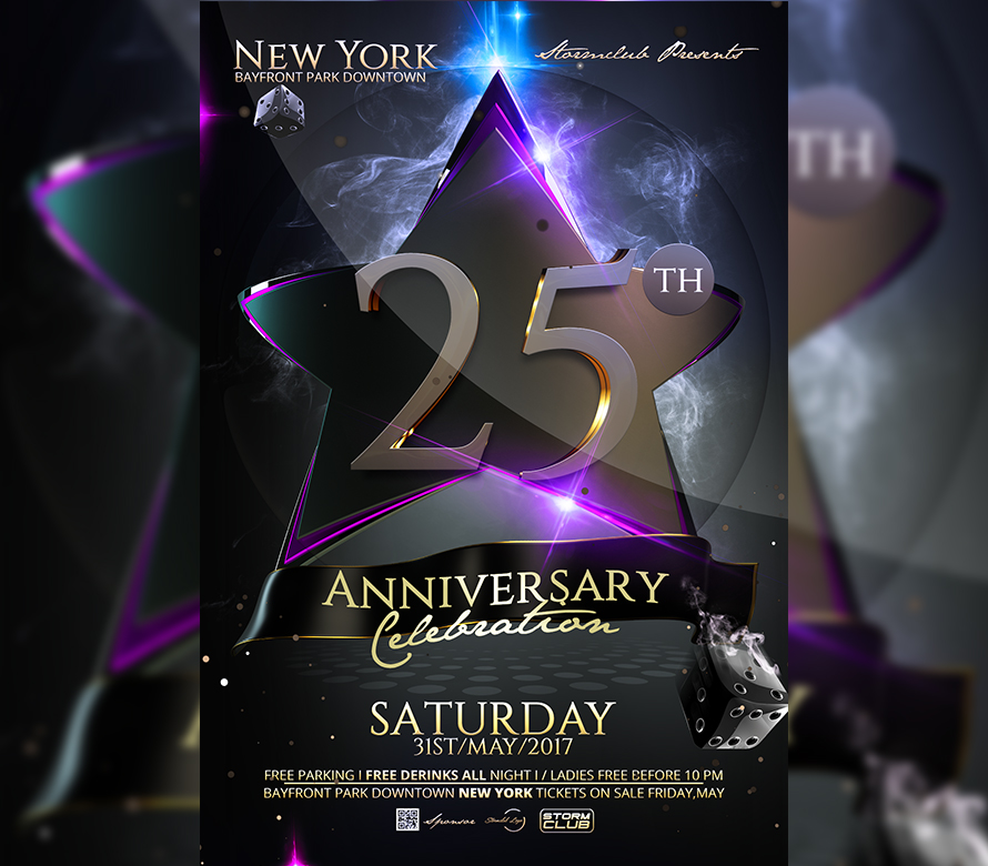 Birthday Anniversary Party Flyer Template I For your Awesome Parties
