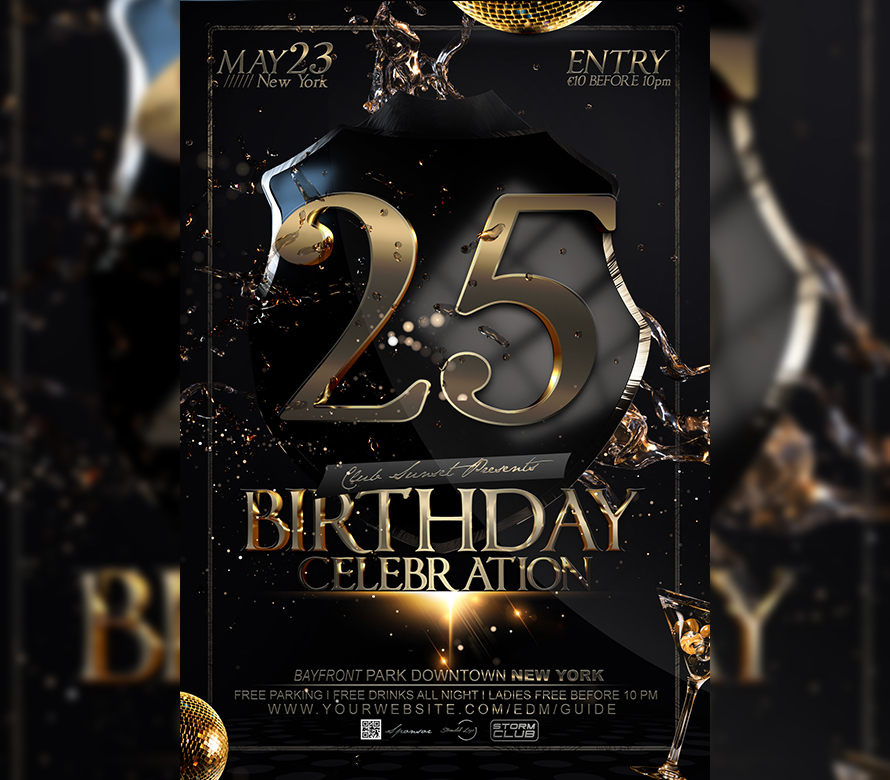 birthday bash flyer psd template i for your awesome parties