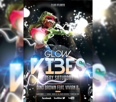 Glow Vibes Party Event Flyer
