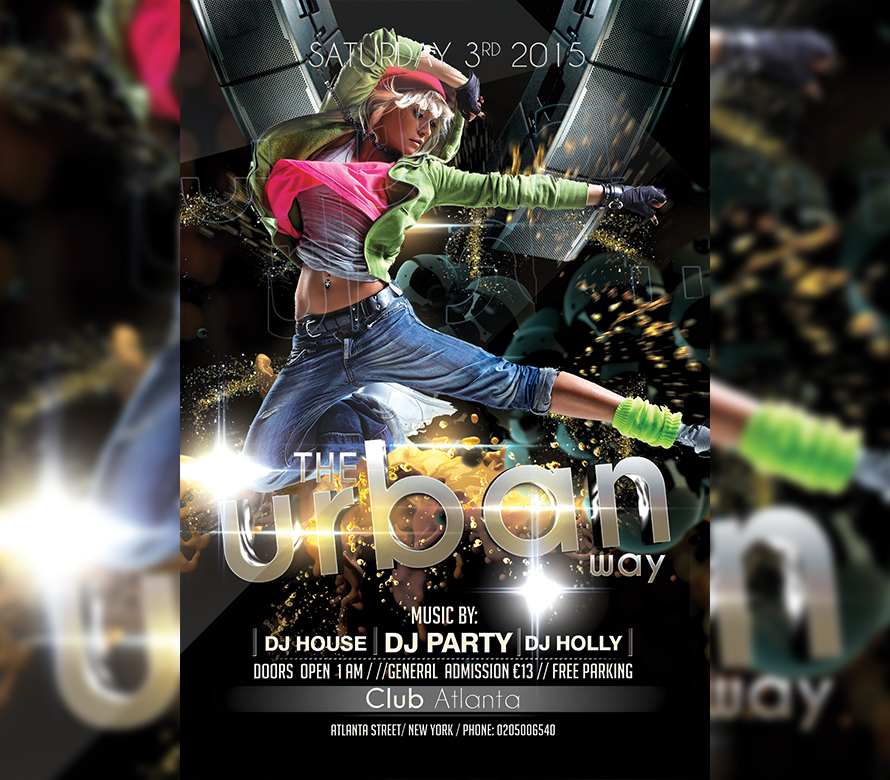 Urban Sound Party Flyer Template I For Your Awesome Parties