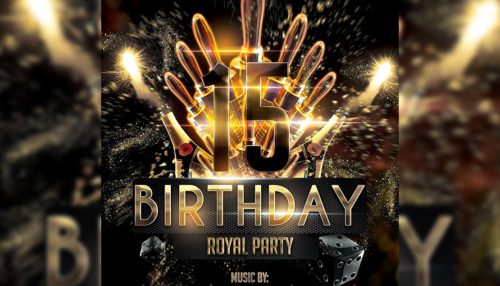 VIP Birthday Flyer Template