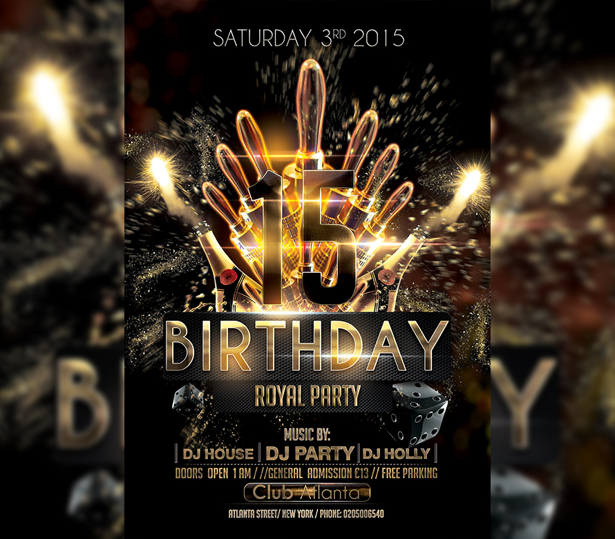 Vip Birthday Flyer Template I For Your Awesome Parties