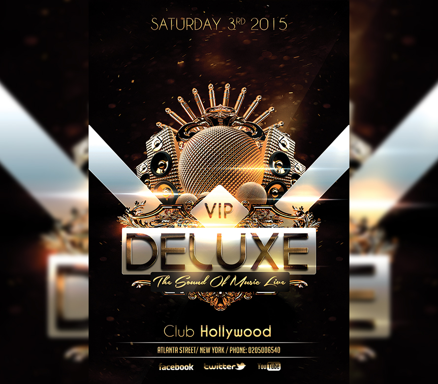 vip deluxe party gold flyer template i for your awesome parties