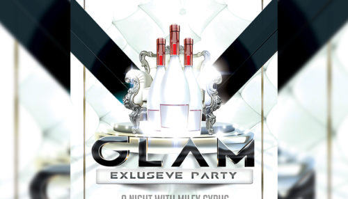 VIP Glam Party Flyer Template