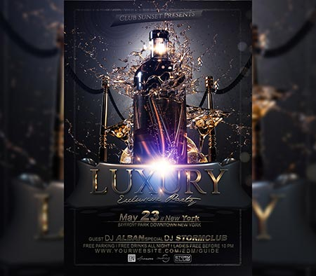 Luxury Party Flyers