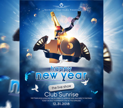 A4 New Years Eve Poster Template