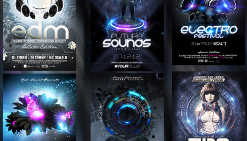 Party Flyer Electro Bundle 3rd Edition