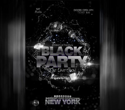 Black Party Flyer Template
