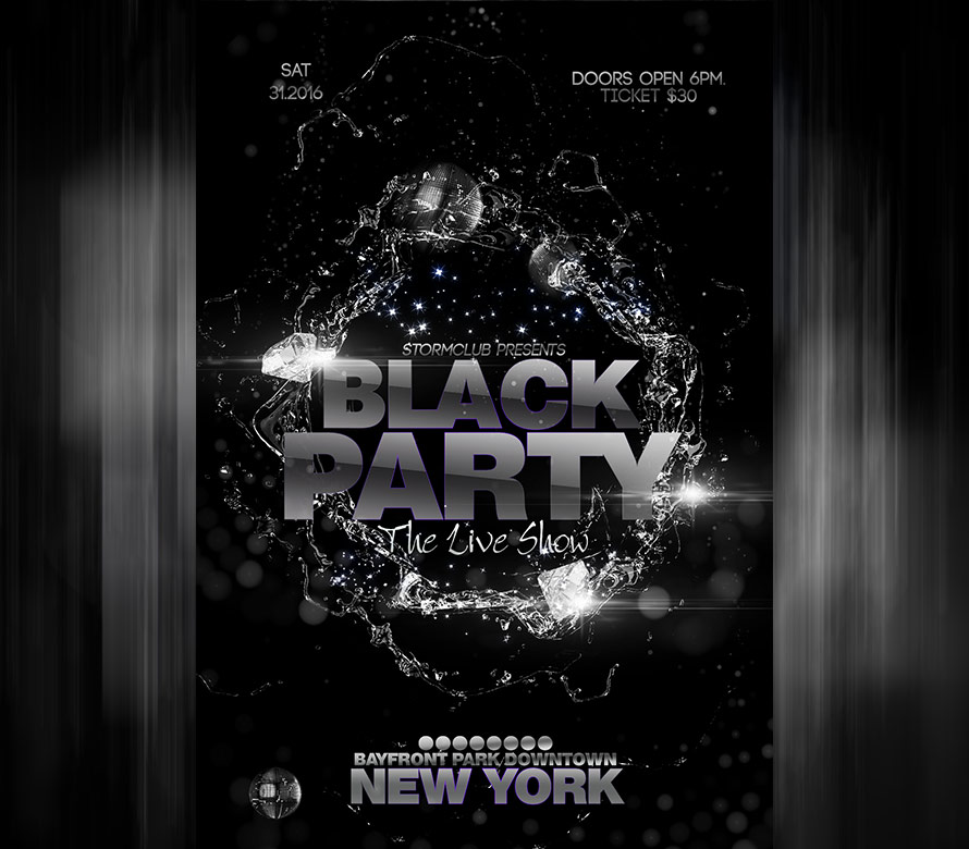 black party flyer template i search for free flyers and then download them