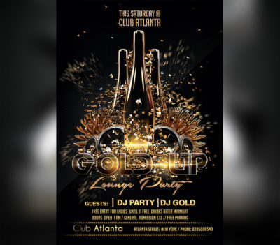 Black Gold Party Flyer Template