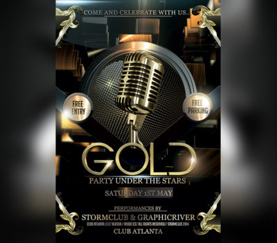 Gold Party Flyer