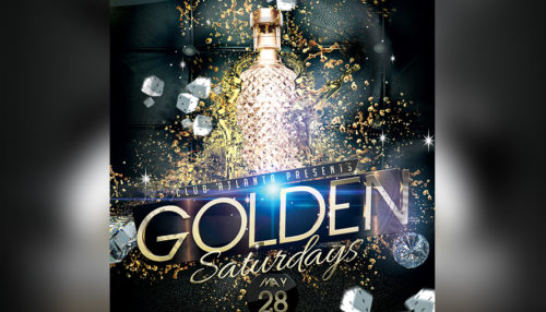 Golden Saturdays Party Flyer